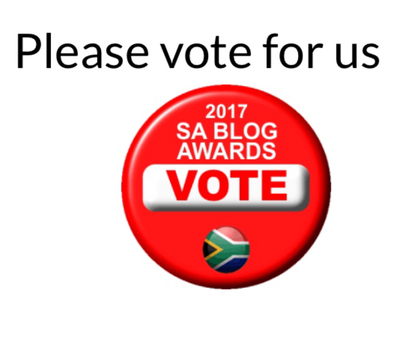 VOTE for us in the 2017 South African Blog Awards